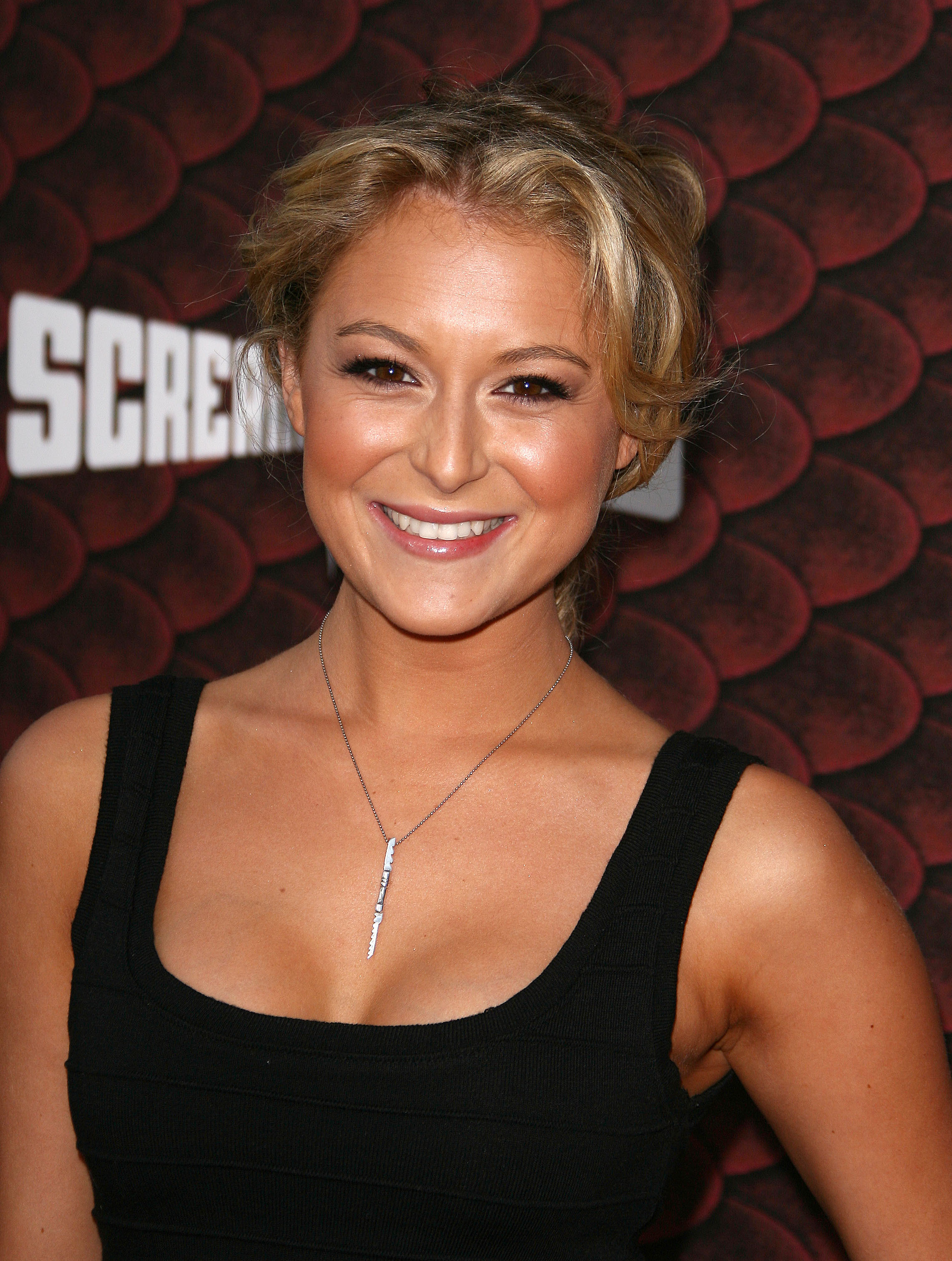 Leggy Alexa Vega strutted her stuff at Spike TV'S Scream 2008